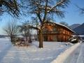 Auffahrt Niederau im Winter