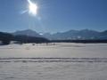Winter Blick auf Niederau